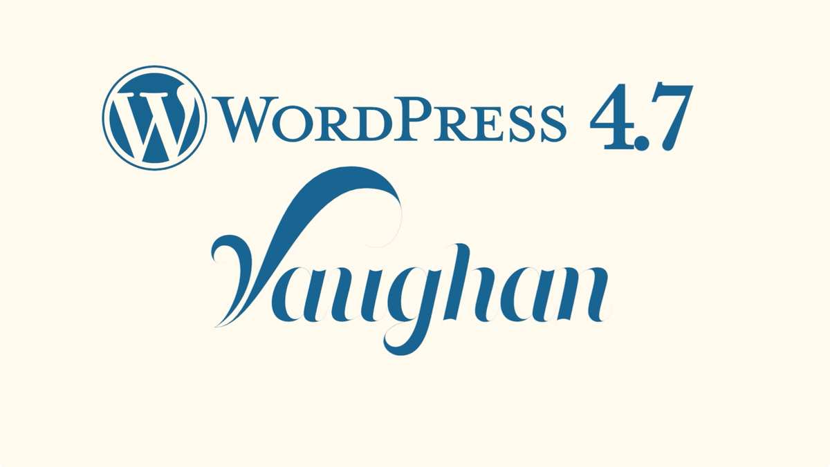 WordPress-4.7-Vaughan